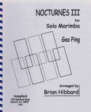 Ping , Gao - Nocturnes III  for Solo Marimba (特価品)