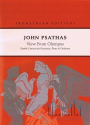 Psathas , John - View from Olympus -Doble Concerto for Percussion, Piano & Orchestra (オーケストラ伴奏版、スコアのみ)