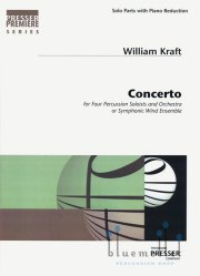 Kraft , William - Concerto for 4 Percussion Solists and Orchestra or Symphonic Wind Ensemble (Piano Reduction)(スコア・パート譜セット)