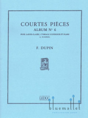 Dupin , Francois - Courtes Pieces Album No. 6 (スコア・パート譜セット)