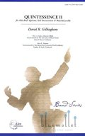 Gillingham , David R. - Quintessence II for Brass Quintet, Solo Percussion and Wind Ensemble (スコア・パート譜セット)