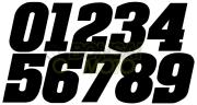 ゼッケンステッカー(3枚入り)小サイズ