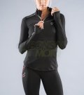 【NEW】ロングスリーブ ハーフジップ(ESiO1) VIRUS ウィメンズ Stay Warm 暖速乾 ブラック