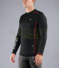 ファンクショナル ロングスリーブフィンガーホール付(SiO10) VIRUS メンズ Stay Warm 暖速乾 ブラック