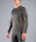 ファンクショナル ロングスリーブ フィンガーホール付(SiO10) VIRUS メンズ Stay Warm  暖速乾  グレー