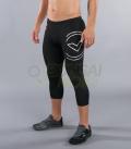 ブーツカット(7分丈)パンツ コンプレッション(SiO6) VIRUS メンズ Stay Warm 暖速乾 ブラック