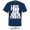Ricoo オリジナルTシャツ LOVE FOOD AND MOTOCROSS