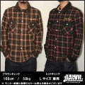 【BAWR】チェックネルワークシャツ きれい目カジュアルストリート