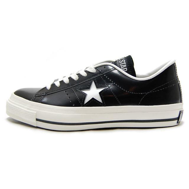CONVERSE コンバース メンズ レディース スニーカー ONE STAR J ワンスターJ BLACK/WHITE ブラック/ホワイト [ローカット/レザー/日本製/限定/MADE IN JAPAN/国内正規販売店/Authorized Dealer]