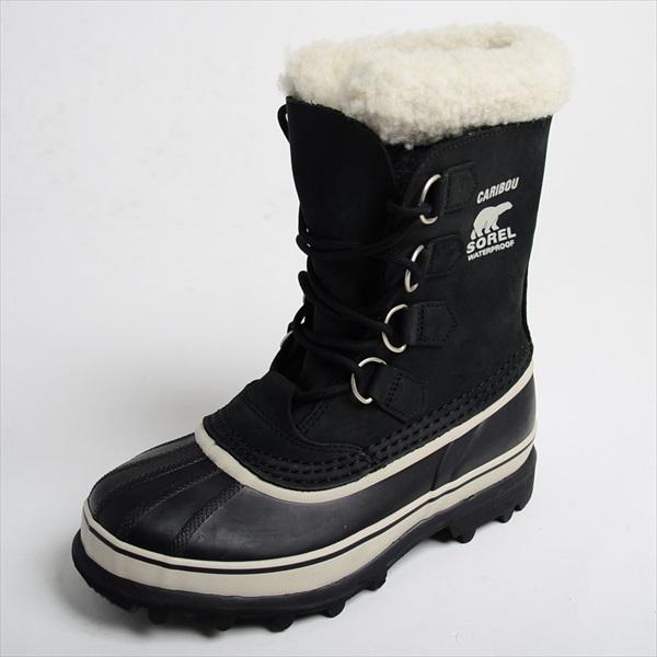 SOREL ソレル レディース スノーブーツ CARIBOU カリブー BLACK ブラック NL1005-011 [ボア/スエード/防寒/梨花/雪/防水]