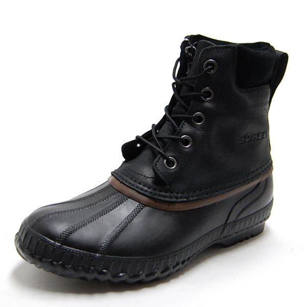 SOREL ソレル メンズ ブーツ CHEYANNE LACE FULL GRAIN シャイアンレースフルグレイン BLACK/DARK BROWN NM1704-010【返品交換不可】