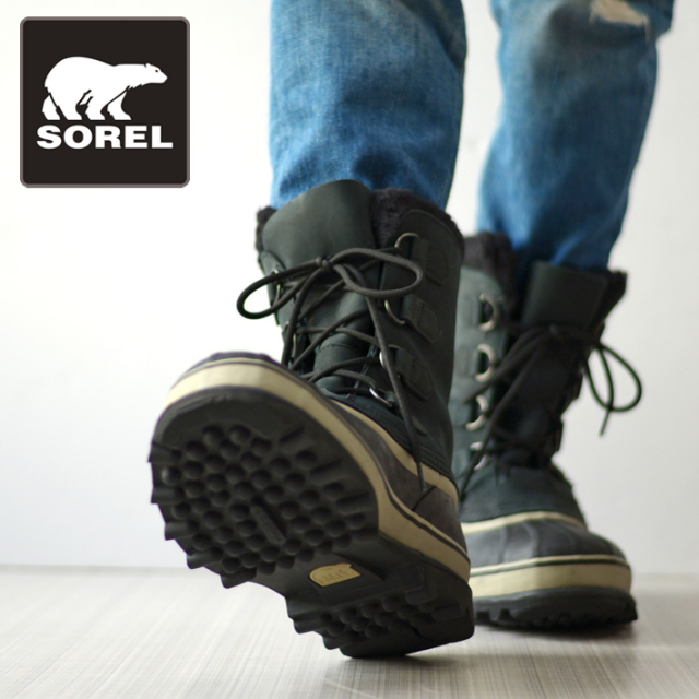 SOREL ソレル メンズ ブーツ CARIBOU カリブー NM1000-014 BLACK/TUSK ブラック [国内正規販売店/スノーブーツ/雪]