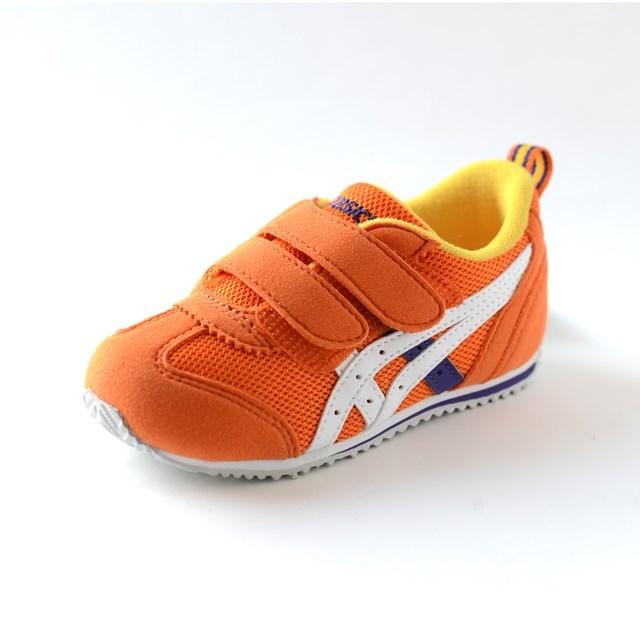 ASICS アシックス キッズ スニーカー アイダホBABY 2 オレンジ×ホワイト TUB144-0901 [子供靴/幼児/ジュニア/ファースト/ベビー]