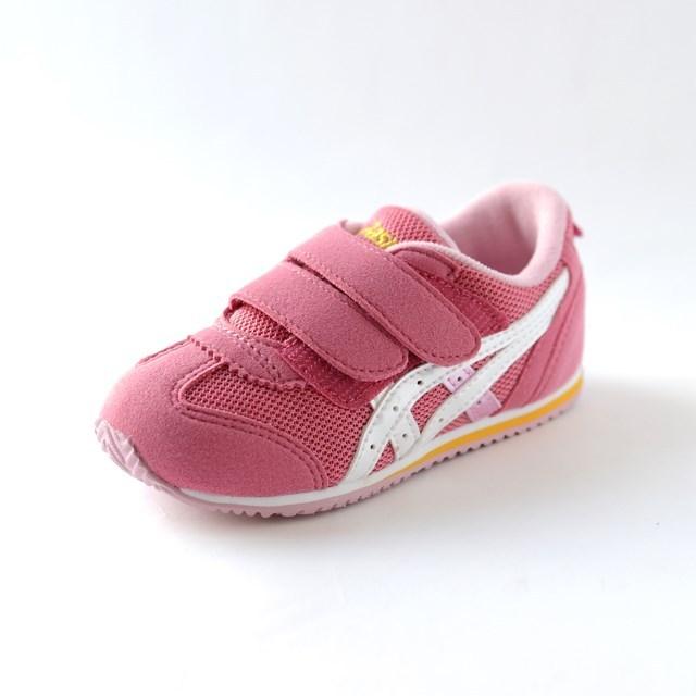 ASICS アシックス キッズ スニーカー アイダホBABY 2 コーラルピンク×ホワイト TUB144-1701 [子供靴/幼児/ジュニア/ファースト/ベビー]