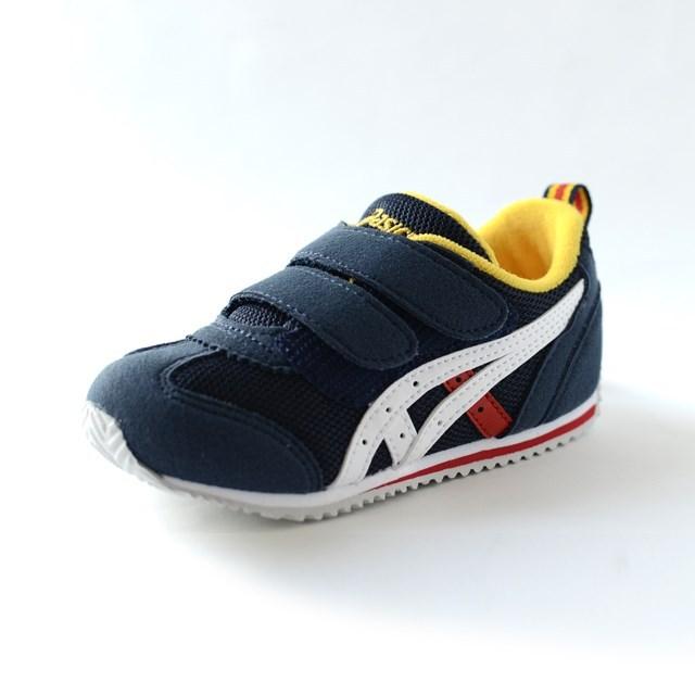ASICS アシックス キッズ スニーカー アイダホBABY 2 ネイビーブルー×ホワイト TUB144-5001 [子供靴/幼児/ジュニア/ファースト/ベビー]