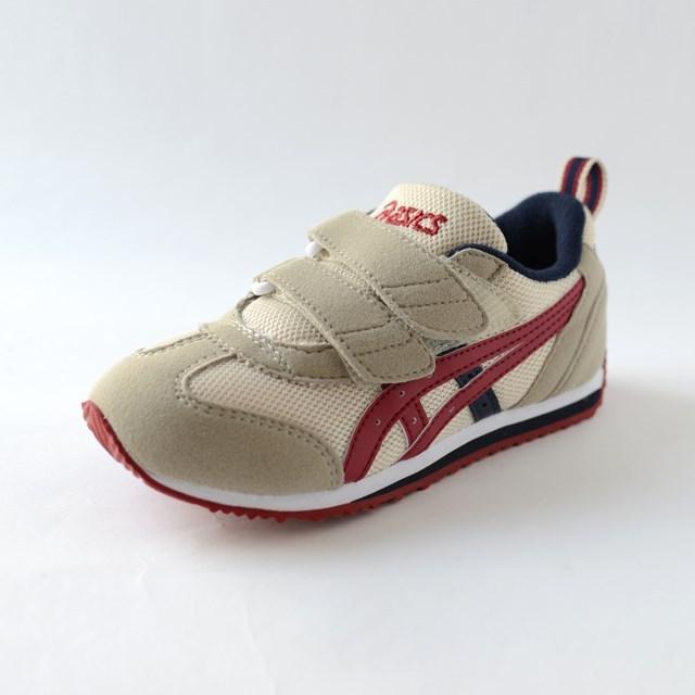 ASICS アシックス キッズ スニーカー アイダホMINI 2 ベージュ×エンジ TUM158-0526 [子供靴/幼児/ジュニア/シューズ]