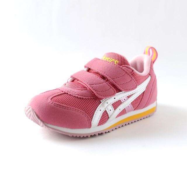 ASICS アシックス キッズ スニーカー アイダホMINI 2 コーラルピンク×ホワイト TUM158-1701 [子供靴/幼児/ジュニア/シューズ]
