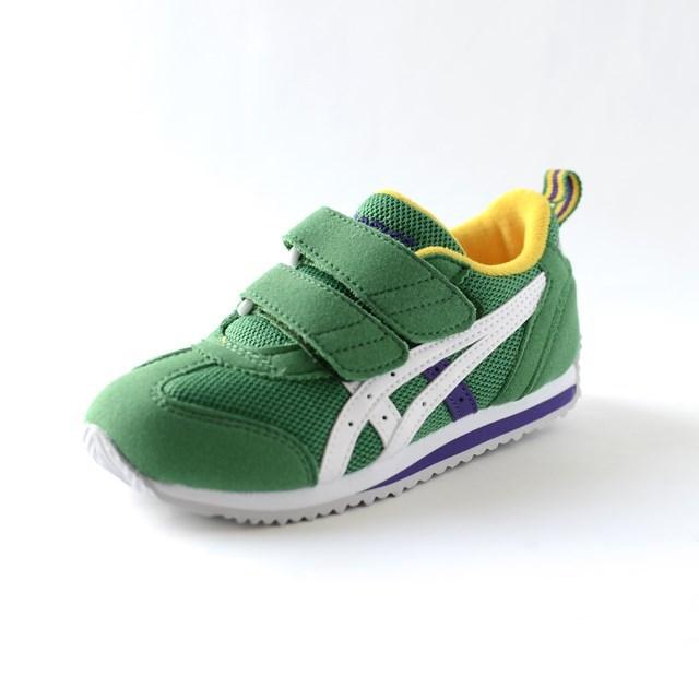 ASICS アシックス キッズ スニーカー アイダホMINI 2 グリーン×ホワイト TUM158-8401 [子供靴/幼児/ジュニア/シューズ]