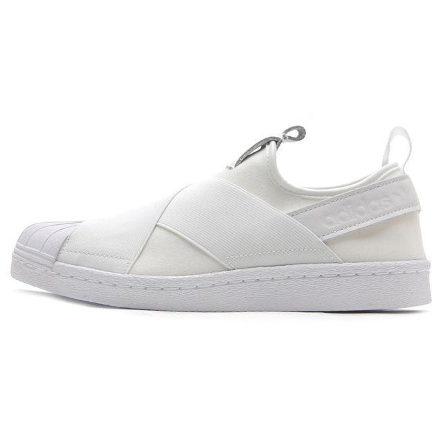 adidas アディダス メンズ レディース スリッポン Originals Superstar Slip On W オリジナルス スーパースタースリッポン ランニングホワイト/ランニングホワイト/コアブラック S81338 [WHITE/白/シンプル/国内正規販売店/Authorized Dealer]