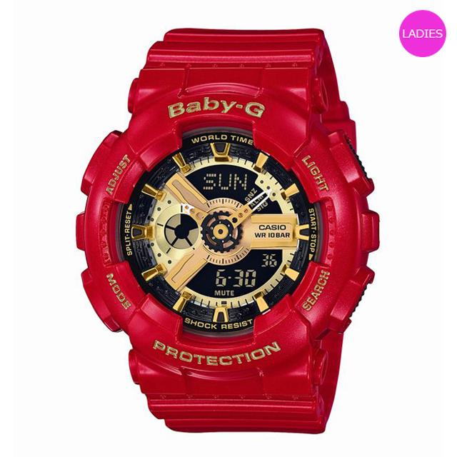 Baby-G ベビージー ベビーG CASIO カシオ レディース 腕時計 BA-110VLA-4AJR [10気圧防水/ワールドタイム/レッド/赤/アナログ/国内正規販売店/Authorized Dealer]
