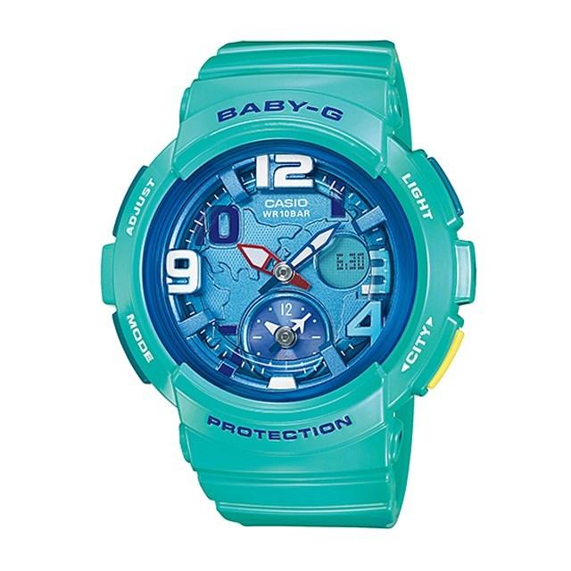 Baby-G ベビージー レディース 腕時計 ベビーG CASIO カシオ Beach Traveler Series ビーチ・トラベラー・シリーズ BGA-190-3BJF [国内正規販売店]