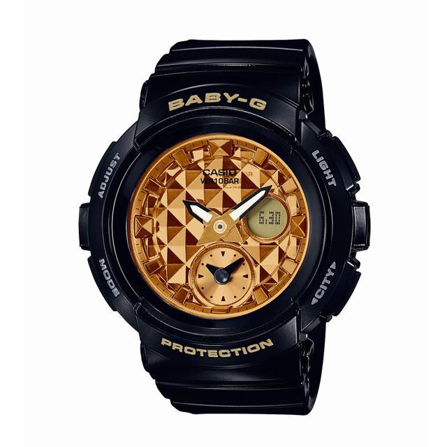 Baby-G ベビージー ベビーG CASIO カシオ レディース 腕時計 Studs Dial Series スタッズ・ダイアル・シリーズ BGA-195M-1AJF [10気圧防水/アナログ/スタッズ/ワールドタイム]