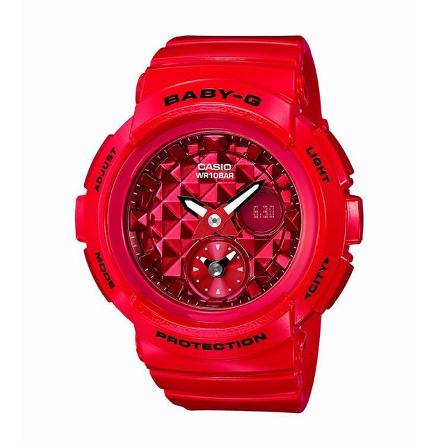 Baby-G ベビージー ベビーG CASIO カシオ レディース 腕時計 Studs Dial Series スタッズ・ダイアル・シリーズ BGA-195M-4AJF [10気圧防水/アナログ/スタッズ/ワールドタイム]