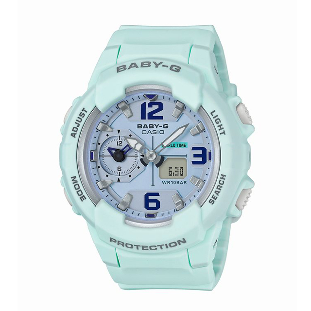 Baby-G ベビージー ベビーG CASIO カシオ レディース 腕時計 BGA-230SC-3BJF [10気圧防水/アナログ/ワールドタイム/トラベル/ミリタリー]