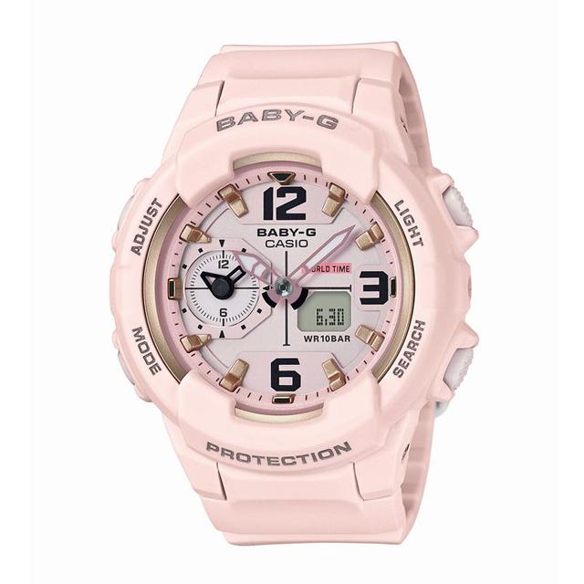Baby-G ベビージー ベビーG CASIO カシオ レディース 腕時計 BGA-230SC-4BJF [10気圧防水/アナログ/ワールドタイム/トラベル/ミリタリー]