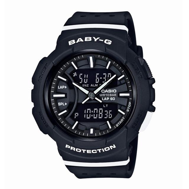 Baby-G ベビージー CASIO カシオ レディース 腕時計 for running フォーランニング BGA-240-1A1JF [10気圧防水/アナログ/ランニング/スポーツ]
