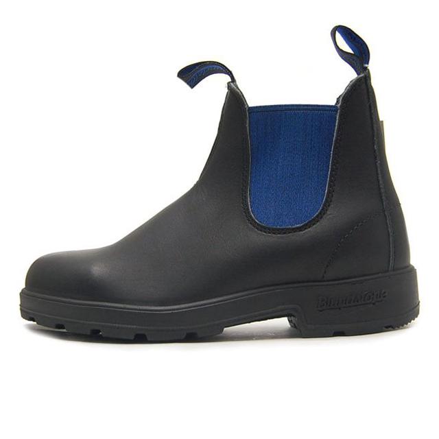 Blundstone ブランドストーン メンズ レディース ブーツ VOLTAN BLACK/BLUE ボルタンブラック/ブルー BS515500 [サイドゴア/レザー/ワークブーツ/黒/アウトドア/タウンユース/ユニセックス/国内正規販売店/Authorized Dealer]