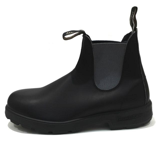 Blundstone ブランドストーン メンズ レディース ブーツ VOLTAN BLACK/GRAY ボルタンブラック/グレー BS577887 [サイドゴア/レザー/ワークブーツ/黒/ユニセックス/アウトドア/タウンユース/国内正規販売店/Authorized Dealer]