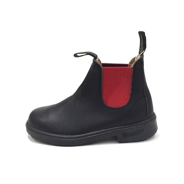 Blundstone ブランドストーン キッズ ブーツ BLACK/RED ブラック/レッド BS581888 [ジュニア/子供靴/サイドゴア/レザー/黒/アウトドア/タウンユース/男の子/女の子/国内正規販売店/Authorized Dealer]