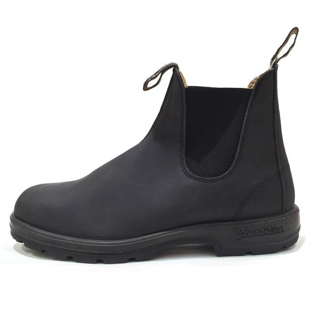 Blundstone ブランドストーン メンズ ブーツ RUSTIC BLACK ラスティックブラック BS587056 [サイドゴア/レザー/ワークブーツ/黒/アウトドア/タウンユース/国内正規販売店/Authorized Dealer]