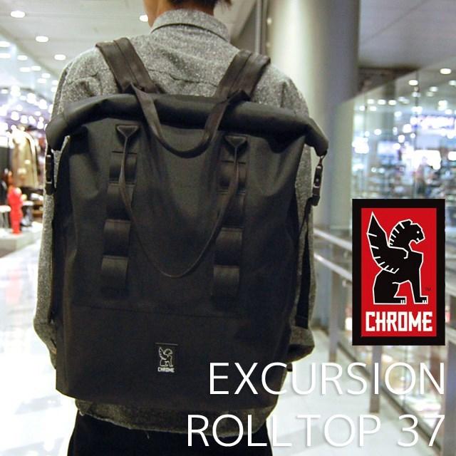 CHROME クローム EXCURSION ROLLTOP 37 Black ブラック BG169BKNANA [防水/国内正規販売店]