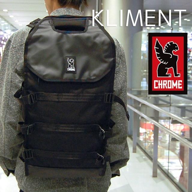 CHROME クローム メンズ バッグ KLIMENT クリメント Black/Black BG193BKBKNANA [バックパック/デイパック/リュック/ビジネス/トラベル/旅行/ブラック/国内正規販売店]