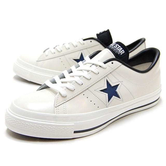 CONVERSE コンバース メンズ レディース スニーカー ONE STAR J ワンスター J ホワイト/ネイビー [国内正規販売店]