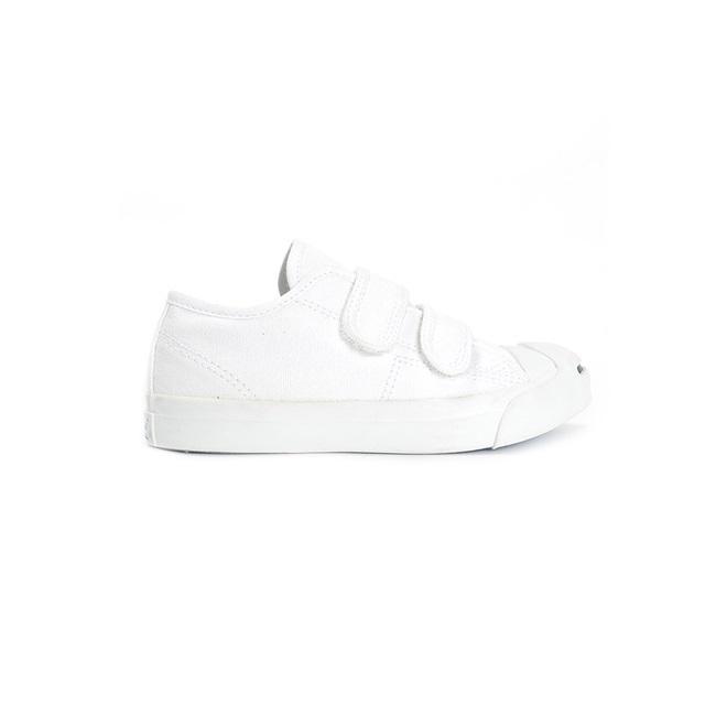 CONVERSE コンバース キッズ スニーカー KID'S JACK PURCELL V-2 キッズ ジャックパーセル V-2 ホワイト [白/子供靴/ジュニア/男の子/女の子/ベルクロ/シンプル/国内正規販売店/Authorized Dealer]