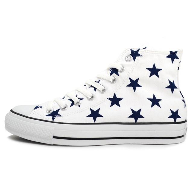 CONVERSE コンバース メンズ レディース スニーカー ALL STAR ST HI オールスター ST HI ホワイト [星柄/ハイカット/キャンバス/かわいい/国内正規販売店/Authorized Dealer]