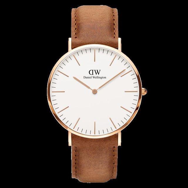 Daniel Wellington ダニエル ウェリントン メンズ 腕時計 Classic Durham 40mm Rose gold ローズゴールド DW00100109 [革ストラップ/ライトブラウン]