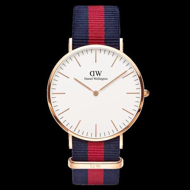 Daniel Wellington ダニエル ウェリントン メンズ 40mm 腕時計 Classic Oxford Rose gold ローズゴールド DW00100001 [NATOストラップ/国内正規販売店/Authorized Dealer]