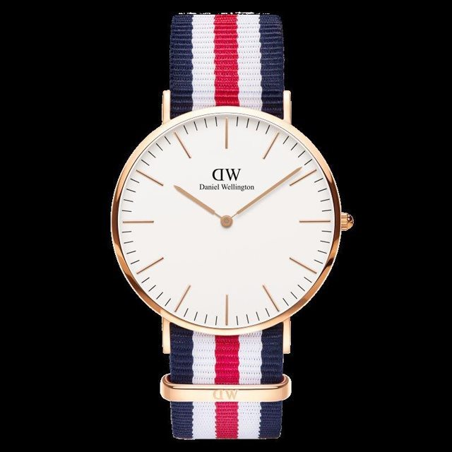 Daniel Wellington ダニエル ウェリントン メンズ 40mm 腕時計 Classic Canterbury Rose gold ローズゴールド DW00100002 [NATOストラップ/国内正規販売店/Authorized Dealer]