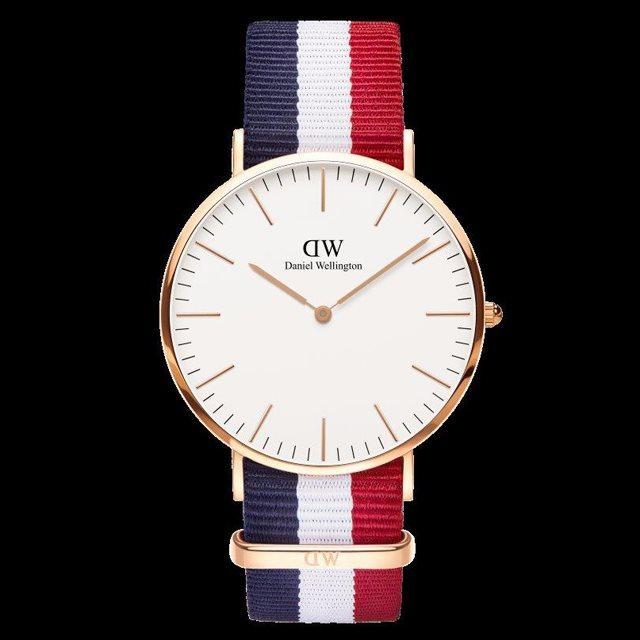 Daniel Wellington ダニエル ウェリントン メンズ 40mm 腕時計 Classic Cambridge Rose gold ローズゴールド DW00100003 [NATOストラップ/国内正規販売店/Authorized Dealer]