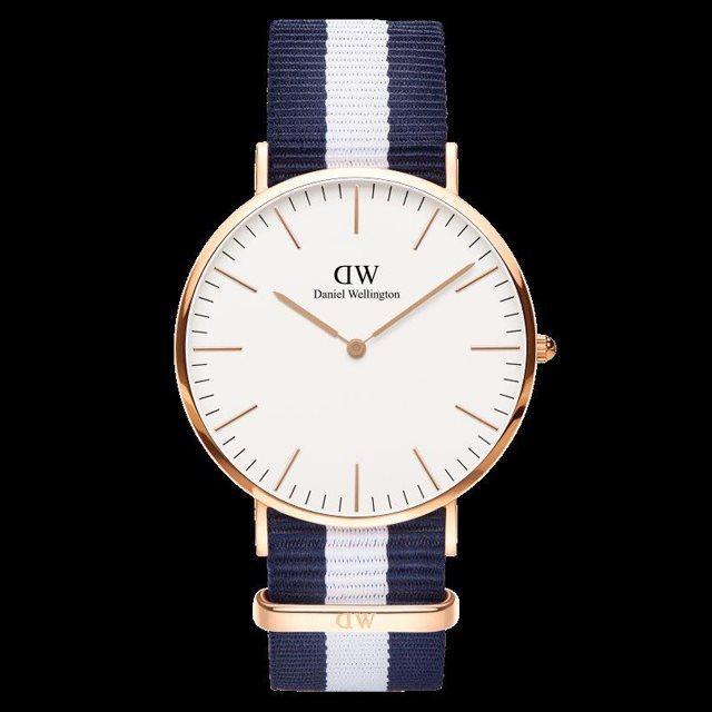 Daniel Wellington ダニエル ウェリントン メンズ 40mm 腕時計 Classic Glasgow Rose gold ローズゴールド DW00100004 [NATOストラップ/国内正規販売店/Authorized Dealer]