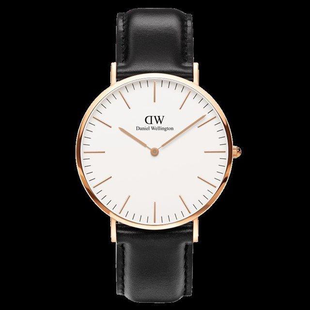Daniel Wellington ダニエル ウェリントン メンズ 腕時計 Classic Sheffield クラシック・シェフィールド 40mm Rose gold ローズゴールド DW00100007 [革ストラップ/ブラック/国内正規販売店/Authorized Dealer]