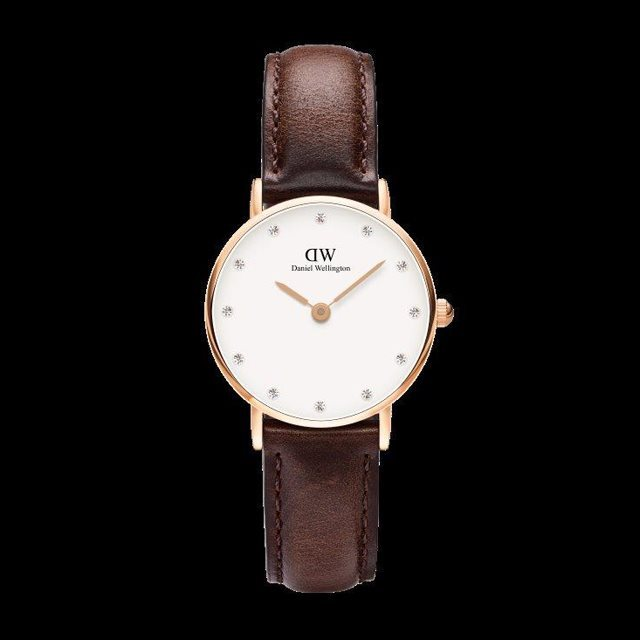 Daniel Wellington ダニエル ウェリントン レディース 26mm 腕時計 Classy Bristol Rose gold ローズゴールド DW00100062 [革ストラップ/国内正規販売店/Authorized Dealer]