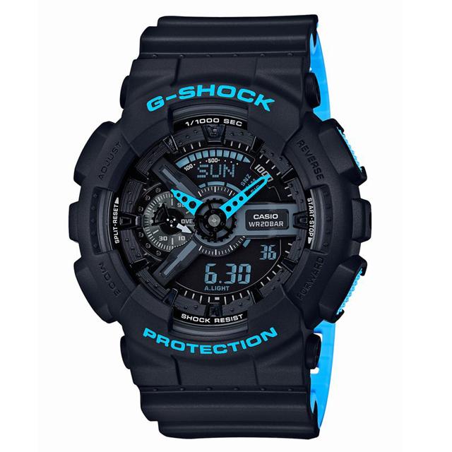 G-SHOCK ジーショック CASIO カシオ メンズ 腕時計 Layered Neon Color レイヤード・ネオンカラー GA-110LN-1AJF [20気圧防水/アナログ/ネオンカラー/マット]