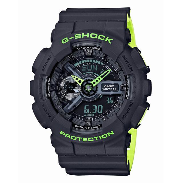 G-SHOCK ジーショック CASIO カシオ メンズ 腕時計 Layered Neon Color レイヤード・ネオンカラー GA-110LN-8AJF [20気圧防水/アナログ/ネオンカラー/マット]