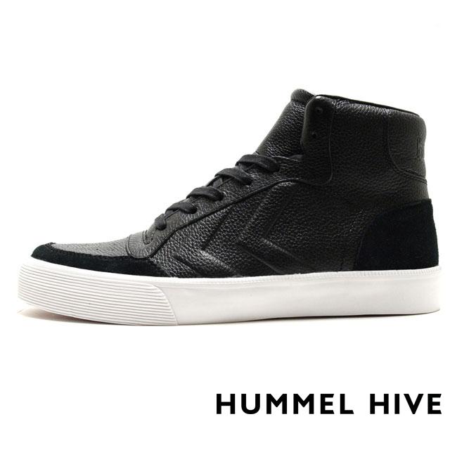 HUMMEL HIVE ヒュンメルハイブ メンズ レディース スニーカー STADIL RMX HIGH スタディール RMX ハイ BLACK HM64232-2001 [限定モデル/LIMITED/リミテッドモデル/国内正規販売店/Authorized Dealer]