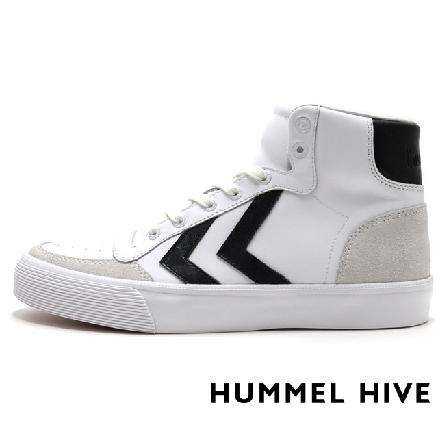 HUMMEL HIVE ヒュンメルハイブ メンズ レディース スニーカー STADIL RMX HIGH スタディール RMX ハイ WHITE/BLACK HM64232-9214 [限定モデル/LIMITED/リミテッドモデル/国内正規販売店/Authorized Dealer]